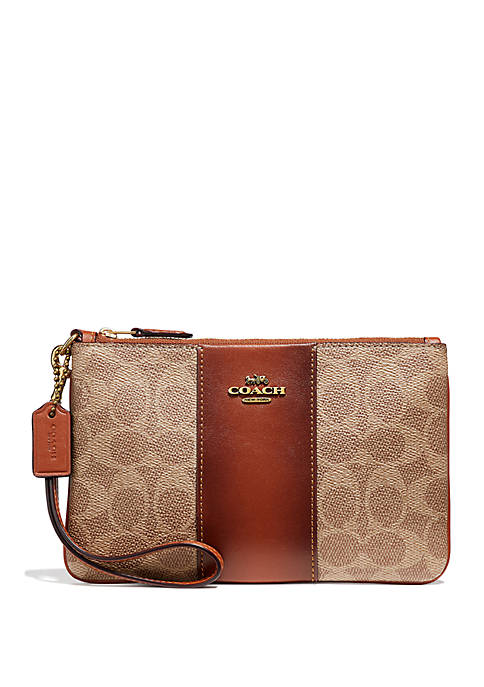 COACH Signature Logo Small Wristlet