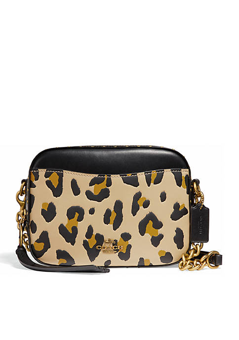 COACH Leopard Camera Crossbody Bag