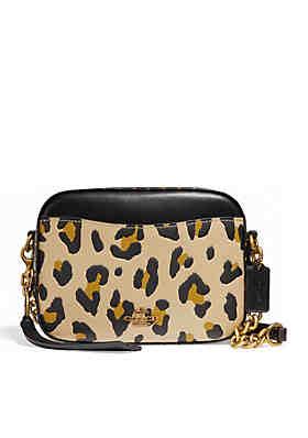 877c20c46e63 COACH Leopard Camera Crossbody Bag ...