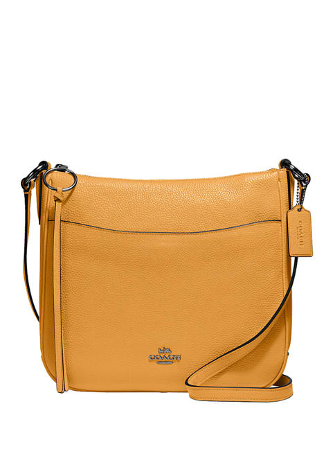 COACH Pebble Leather Chaise Crossbody