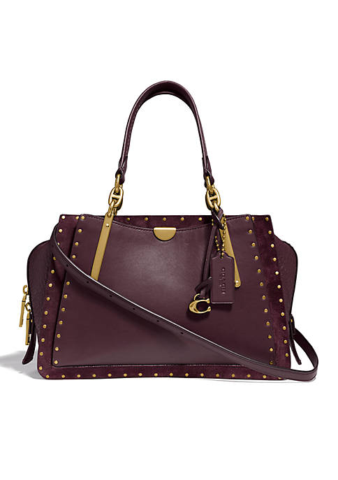 COACH Dreamer 36 Border Rivets Satchel