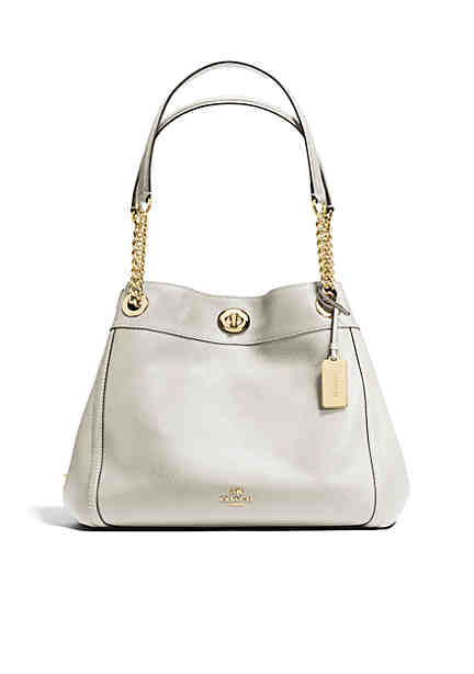 Coach Edi Turnlock Shoulder Bag In Pebble Leather Undefined