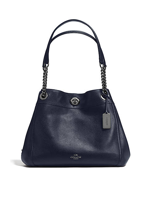 4a9264e2e9f Edie Turnlock Shoulder Bag in Pebble Leather