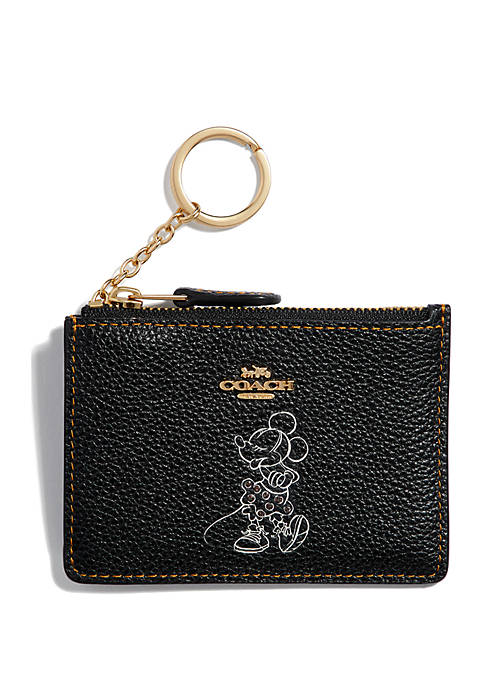 COACH Boxed Minnie Mouse Skinny ID Case