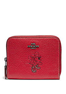 COACH Boxed Minnie Mouse Motif Small Wallet