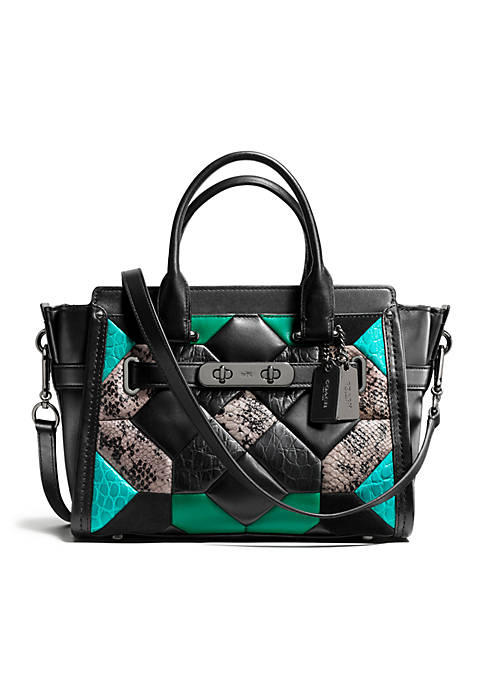 64d21731c76 COACH CANYON QUILT COACH SWAGGER 27 IN EXOTIC EMBOSSED LEATHER   belk
