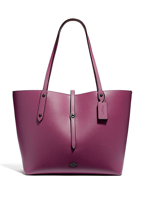 COACH Market Tote With Mouse Print Interior
