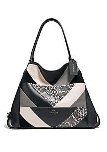 ... COACH Edie 31 Patchwork Shoulder Bag ae4bb4541b98c