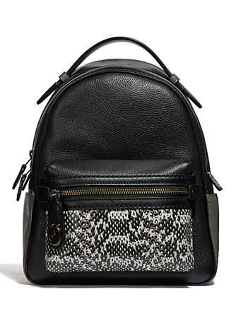 b91a13a60fe62 COACH Campus 23 Snakeskin Backpack