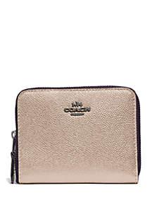 COACH Metallic Small Zip Wallet