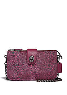 Metallic Turnlock Crossbody Bag