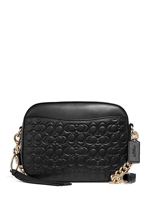 Signature Leather Camera Crossbody Bag