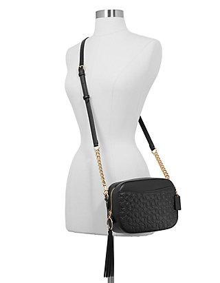22f666005 COACH Signature Leather Camera Crossbody Bag   belk