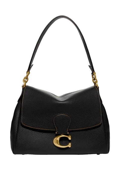 Soft Pebble Leather May Shoulder Bag