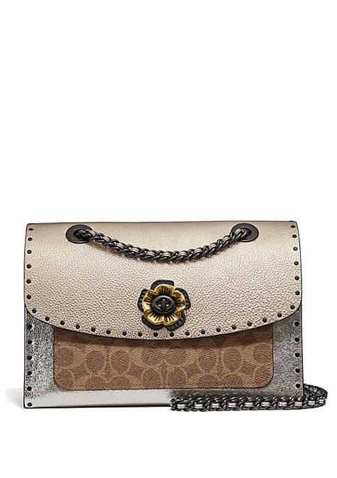 COACH Metallic Parker Shoulder Bag With Rivets And