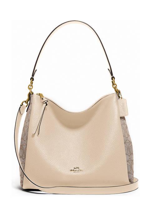 Shay Shoulder Bag in Signature Jacquard