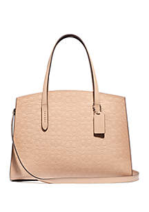 a324083bc0758 ... COACH Charlie Signature Leather Carryall