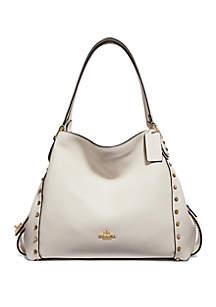 ... COACH Edie 31 Border Rivets Shoulder Bag 5573158210f0b