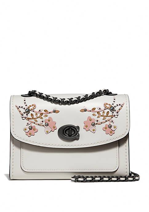 COACH Parker 18 Floral Embroidery Shoulder Bag