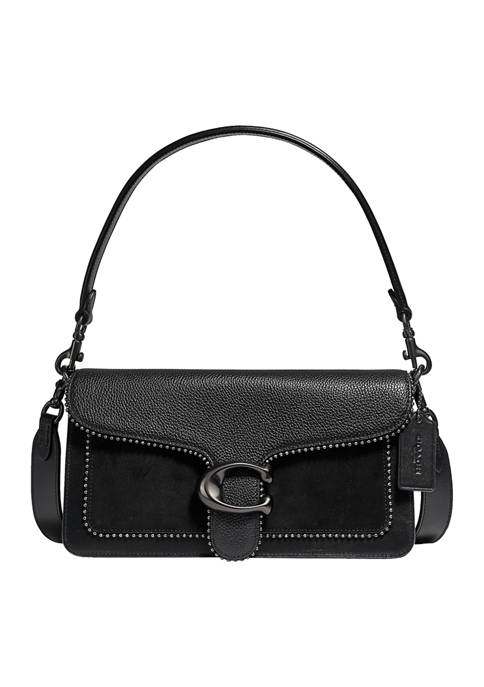 Mixed Leather Tabby Shoulder Bag