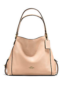 COACH Edie Shoulder Bag in Polished Pebble Leather