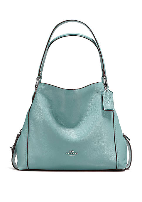 c6b44986b410 COACH Edie Shoulder Bag in Polished Pebble Leather