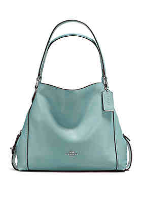 1e0d76ced8 COACH Edie Shoulder Bag in Polished Pebble Leather ...