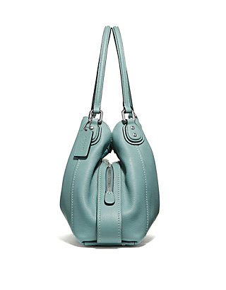 0d93dcc330ca COACH Edie Shoulder Bag in Polished Pebble Leather