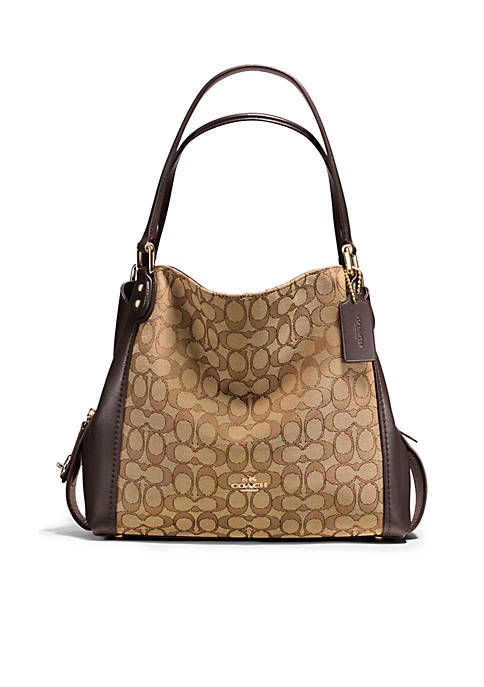 "COACH Edie Shoulder Bag 31"" Signature Jacquard Bag"