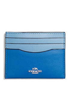COACH Boxed Flat Card Case in Colorblock Leather