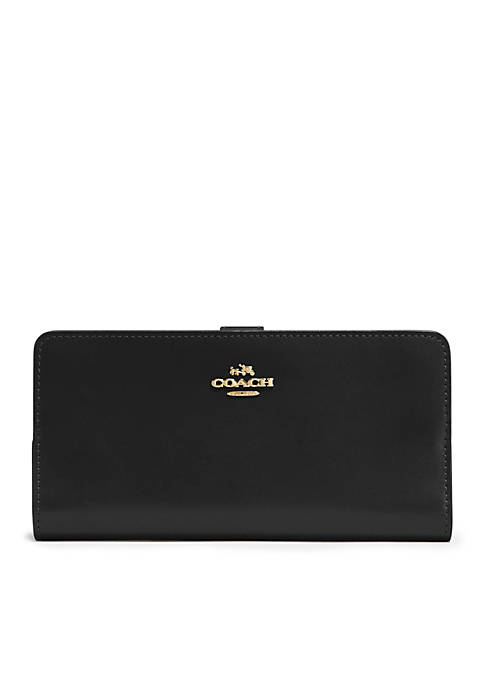 COACH Refined Calf Leather Skinny Wallet
