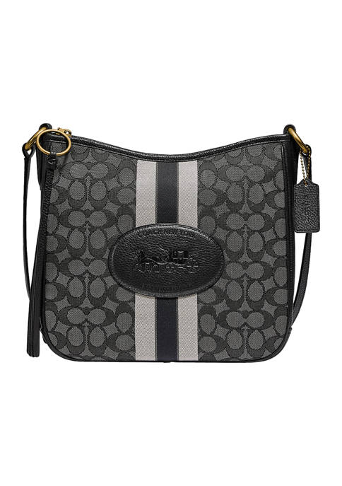 Chaise Crossbody in Signature Jacquard with Horse and Carriage