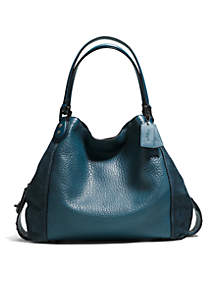 Edie Shoulder Bag 42-in. Mixed Leathers With Star Rivets