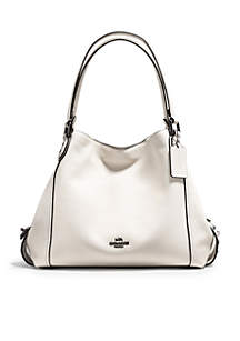 Edie Shoulder Bag 31-in. Polished Pebble Leather With Star Rivet