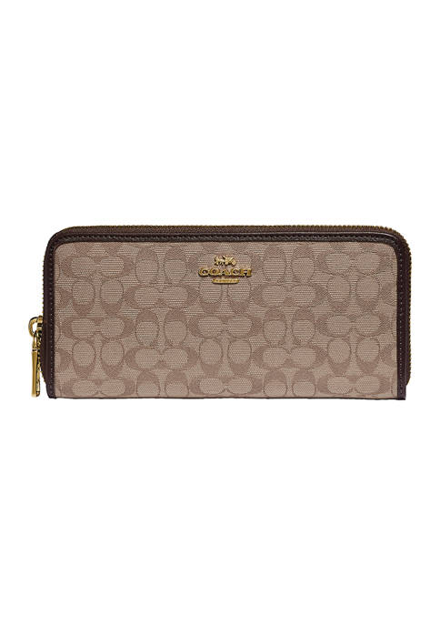 COACH New Signature Jacquard Slim Accordion Wallet