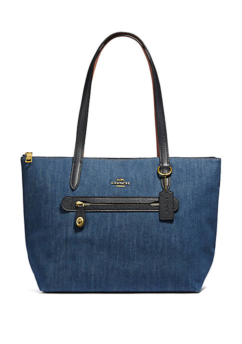 COACH Taylor Denim Tote Bag