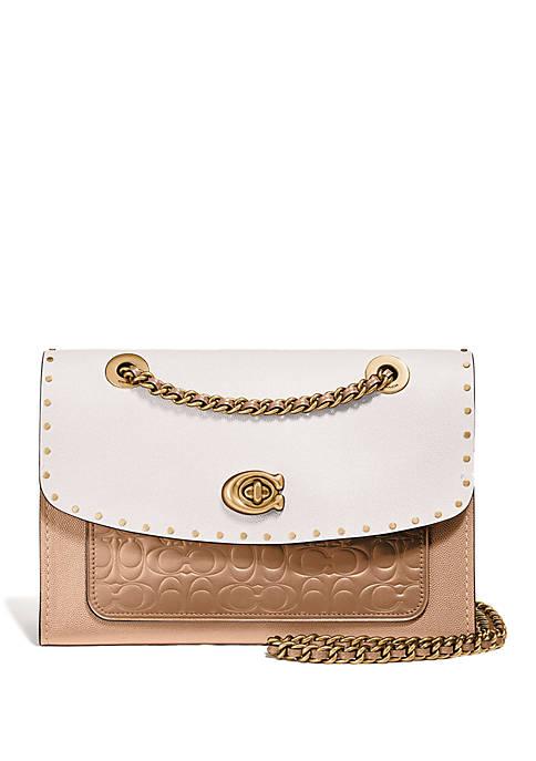COACH Parker Colorblock Shoulder Bag