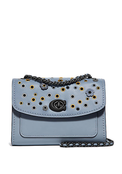 COACH Parker 18 Scatter Rivets Shoulder Bag