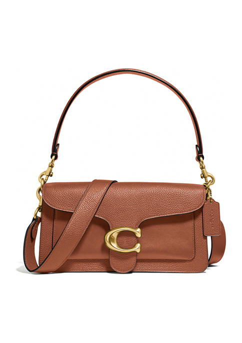 COACH Mixed Leather with Polished Pebble Tabby Shoulder
