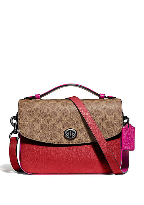 COACH Cassie Crossbody Bag with Signature Canvas Blocking