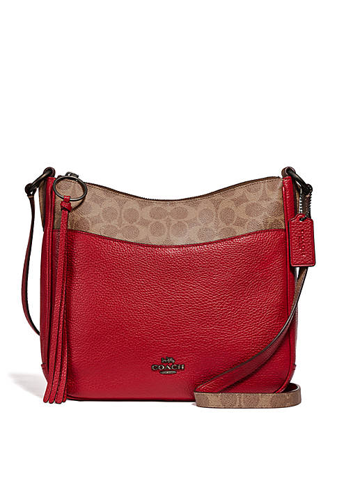 COACH Chaise Crossbody Bag with Signature Canvas Blocking