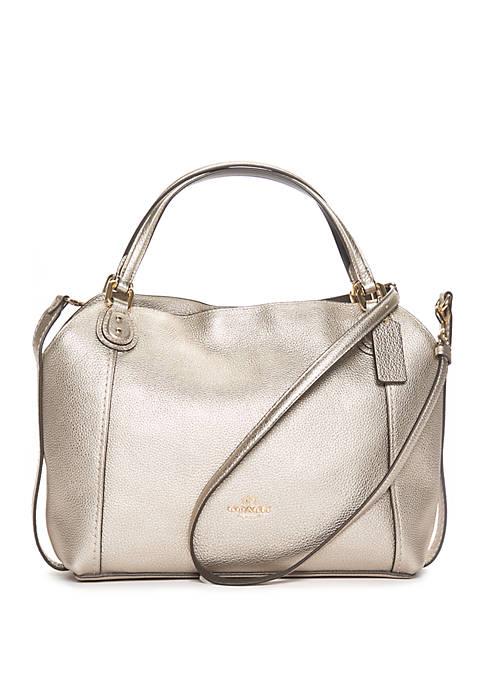 COACH Edie 28 Metallic Shoulder Bag
