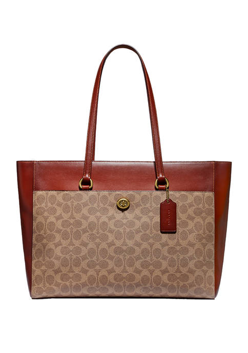 COACH Folio Signature Canvas Tote Bag