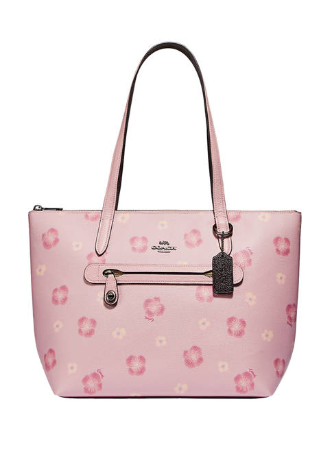COACH Taylor Tote with Pansy Print