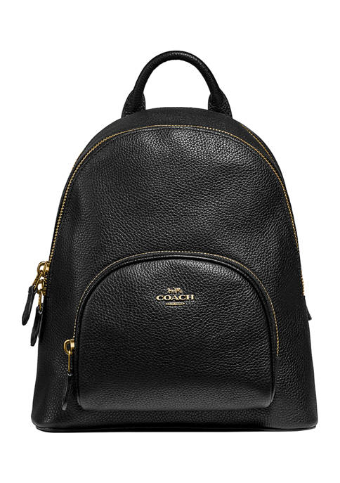 Polished Pebble Leather Carrie Backpack