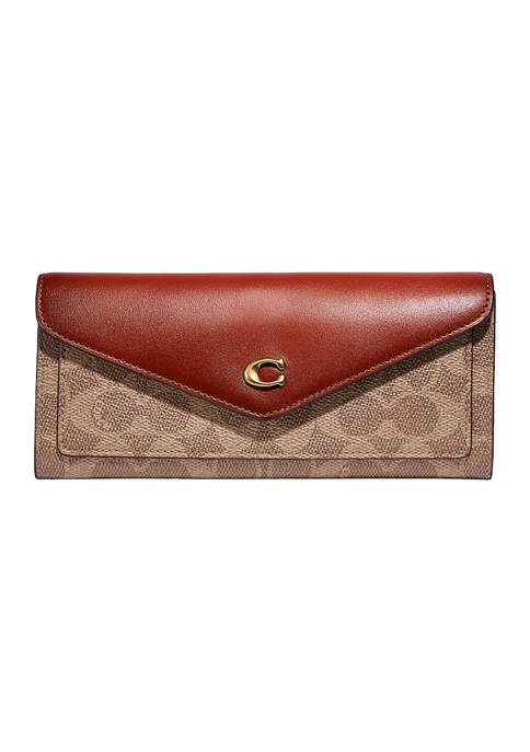 COACH Colorblock Coated Canvas Signature Wyn Soft Wallet