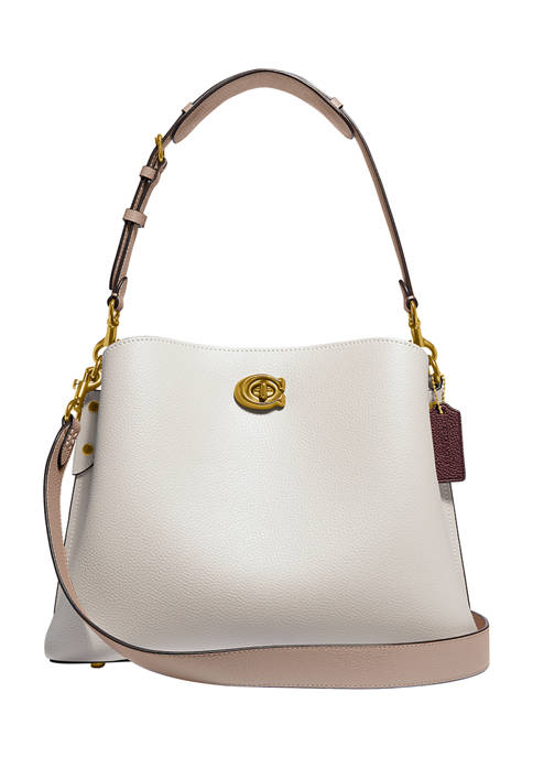 COACH Colorblock Leather Willow Shoulder Bag