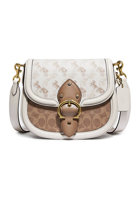 COACH Beat Saddlebag with Horse and Carriage Print