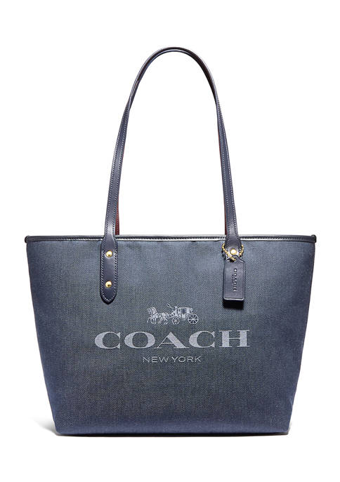 COACH City Zip Tote with Print