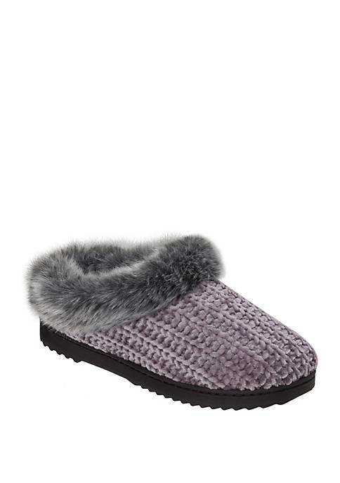 Dearfoams® Chenille Knit Clog